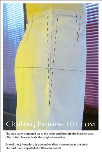 How to fit the skirt pattern