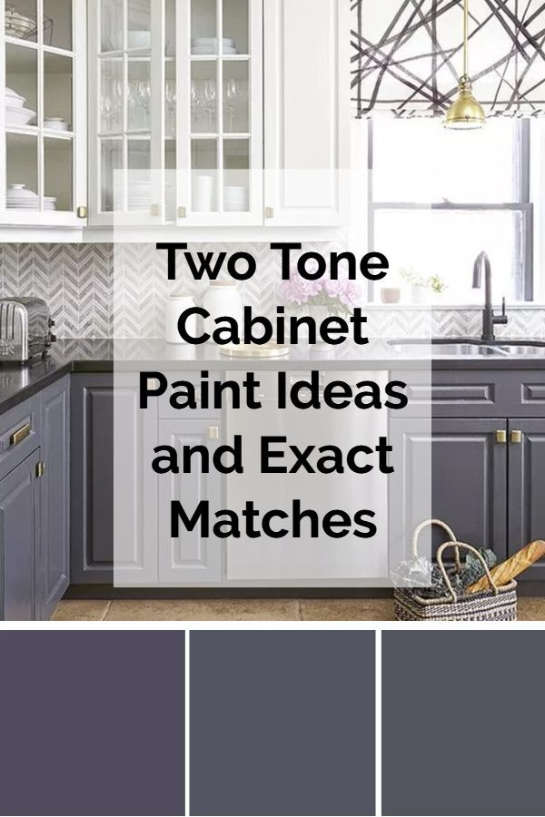 Grey And White Two Color Kitchen Cabinet Color Combination Ideas And