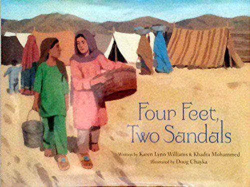 A Crafty Arab: 99 Muslim Children Books - Four Feet, Two Sandals by Karen Lynn Williams