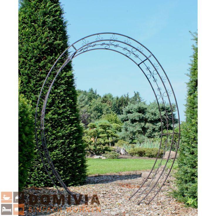 Rosenbogen, oval, Metall Schwarz 200×220 cm Garten