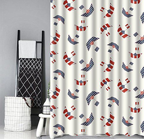 Cartoon National Flag Sailboat Shower Curtain Li Https Www