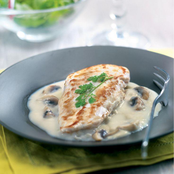 Filets de poulet, sauce suprême Recette   Weight Watchers