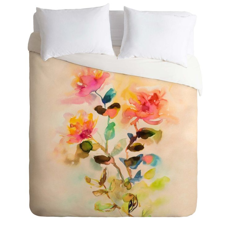 Marta Spendowska Watercolor Vintage Roses Duvet Cover | DENY Designs Home Accessories