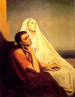 St. Monica (322?-387 A.D.): A Saint for Modern Mothers. St. Monica shows us that through incessant prayer for our families and trust in the Lord, we may through the grace of God lead our children to Heaven. Her perseverance in prayer helped transform her son, Augustine, from a decadent sinner to a saint who would eventually become a Doctor of the Church.