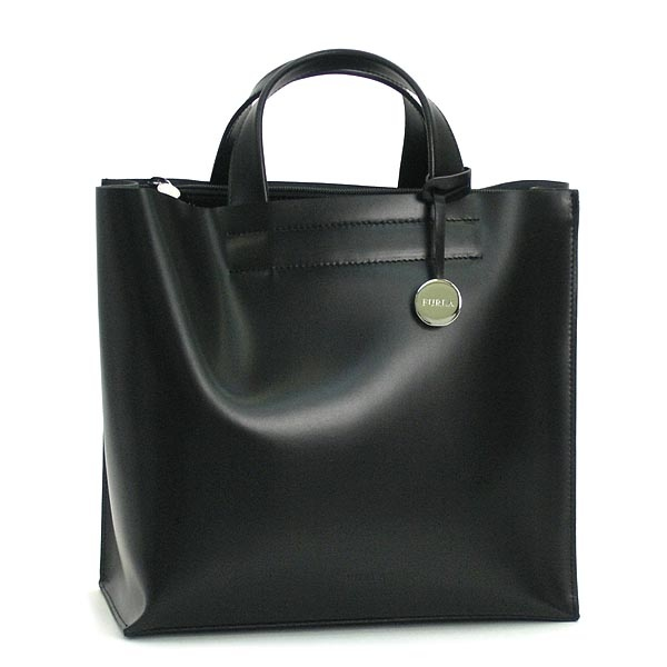 Sleek and simple black leather Furla bag I own