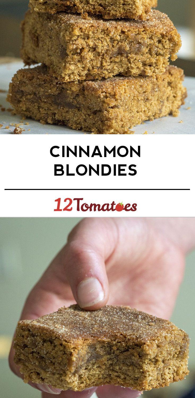 Cinnamon Blondies