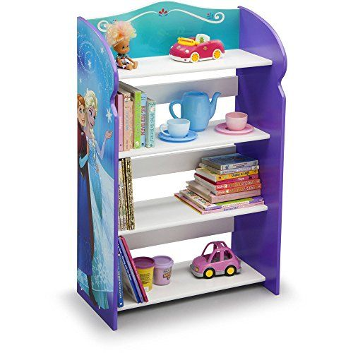 Frozen  bookshelf  organizer  toy  storage  princesses  anna  and  Elsa  kid  bed  play  room  bin  box  book  shelf  durable  and  easy  to  clean  finish  made  of  engineered  wood  19  75l  x  10  25w  x  33h