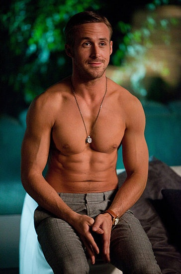 #RyanGosling sent all of our hearts aflutter when he bared his rock-hard abs in 2011's Crazy, Stupid, Love. #hot #shirtless #celebrity Great Movie Love the Lift!!!