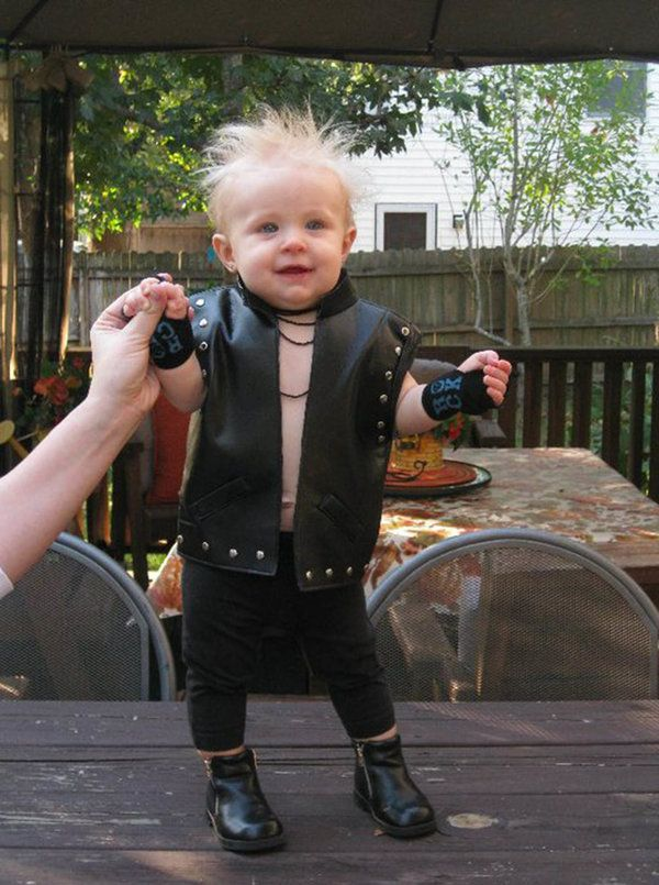 coolest lastminute baby billy idol costume rock the cradle of love