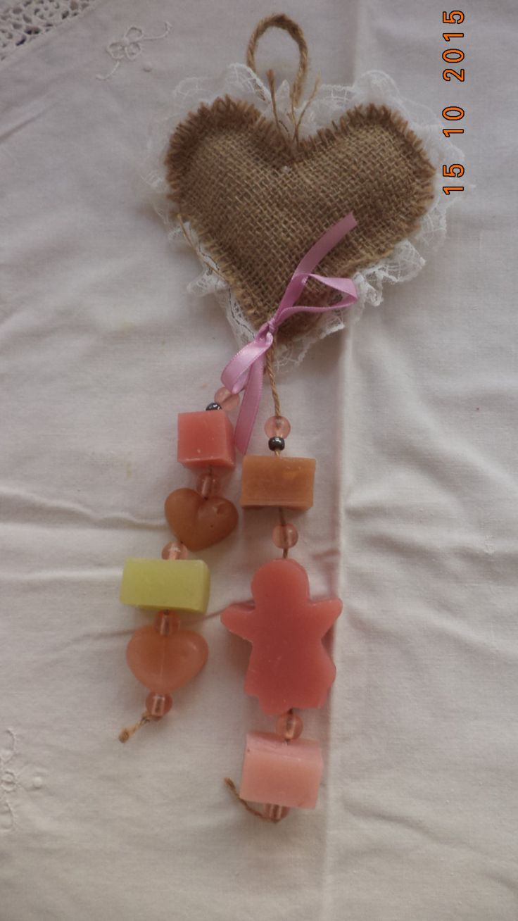 Decorative Soaps,Hanging by a Rope, Handmade soap on a Rope, Soap on a Rope. by MirtilloHandmade on Etsy