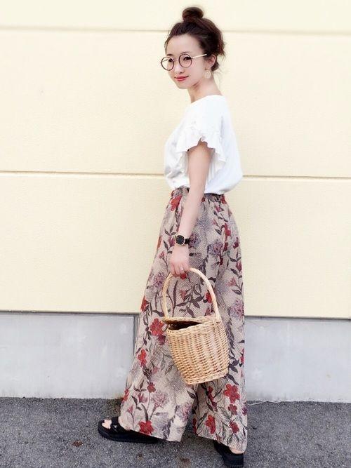 花柄パンツ×袖フリル(^ ^) さらさらして気持ちいい、暑い日にぴったり。 JolielleさんのP