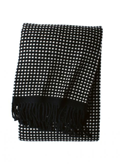 Motti throw (black,white) |Décor, Bedroom, Blankets | Marimekko