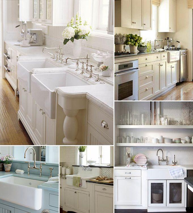 DIY:: 5 Beautiful Cottage Styled Farmhouse Sink Ideas !
