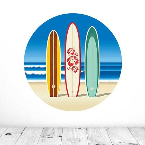 Surf's Up Mural Dot Decal