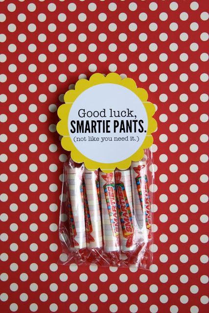 """*Rook No. 17: recipes, crafts & whimsies for spreading joy*: BACK TO SCHOOL WEEK - """"Good Luck Smartie Pants"""" Printable & Lunchbox Treat"""