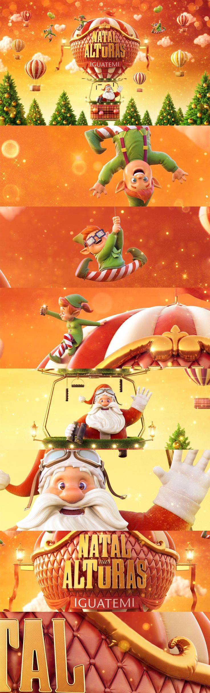 "Image produced to Iguatemi campaign ""Christmas through DM9SUL Agency."