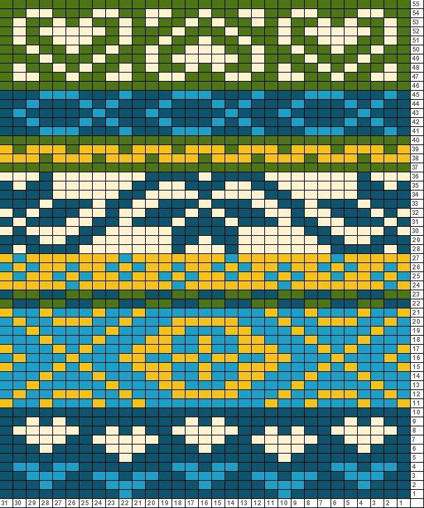 Folk Scarf motif 2
