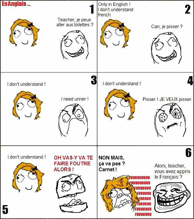 La prof d'anglais