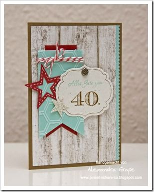 Banner card  Great card! She's in Denmark, but you can order the supplies from my Online Store: www.carolpayne.stampinup.net