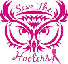 cool breast cancer awareness shirts for men | Save The Hooters Breast Cancer Awareness T Shirt Hoodie Long Sleeve ...
