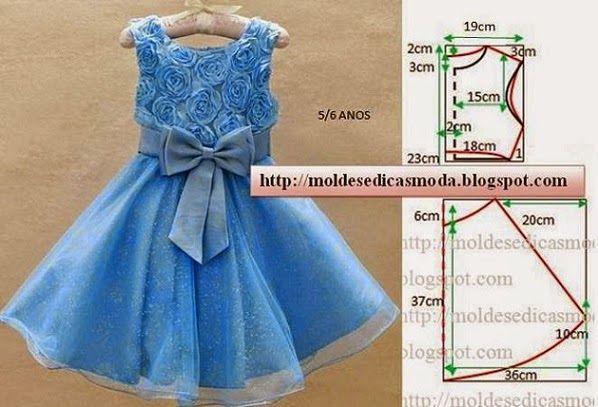 Para fazer o molde do vestido de criança com flores em tecido siga o passo a passo em baixo. Este trabalho é feito com rigor para que possam concluir o...