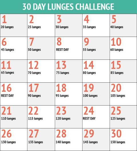 30 day lunges
