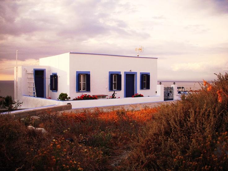 House on the cliff, Santorini Greece