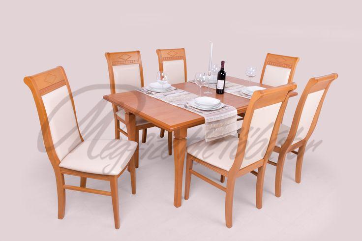 Raffaello étkező Raffaello asztallal l http://megfizethetobutor.hu/etkezo/etkezogarnitura/6-szemelyes-etkezogarnitura/raffaello-etkezo-raffaello-asztallal-6-szemelyes