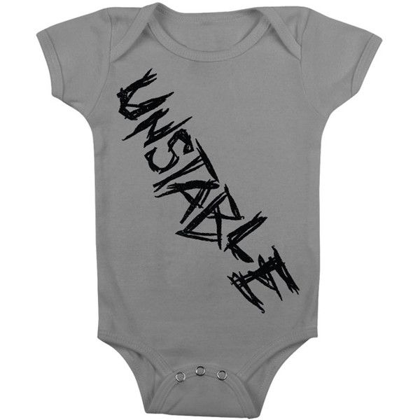 """Dean Ambrose """"Unstable"""" Baby Creeper ❤ liked on Polyvore featuring wwe, dean ambrose and onesies"""