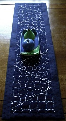sashiko sampler = tablemat  By: alicequilts  abstract challenge