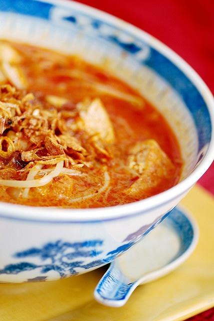 Curry Laska! So jealous... #food #foodie #Malaysian #soup #curry #laska