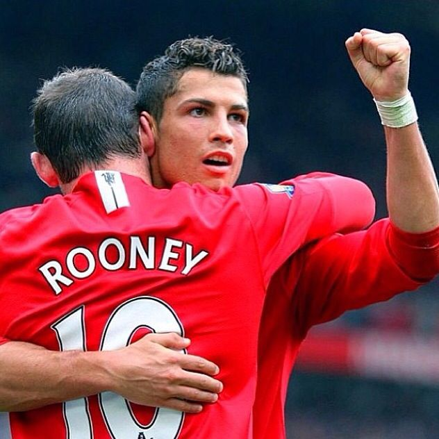 Rooney and Cristiano Ronaldo Manchester United