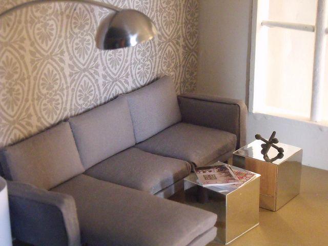 diy sofa mirror cubes and lamp miniatures and dollhouses rh pinterest com