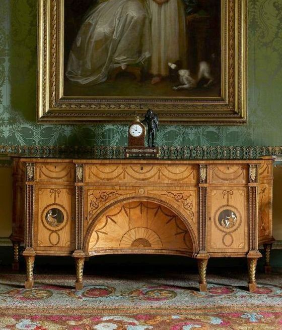 The Diana and Minerva commode by Thomas Chippendale, with ...
