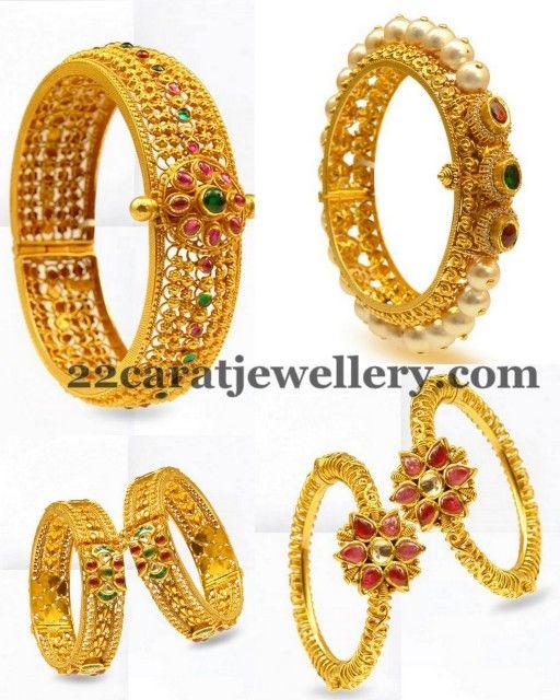 Antique Gold Swirls Bangles
