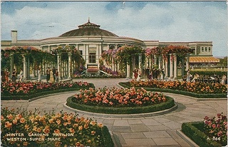 Weston-Super-Mare, Winter Gardens pavilion (vintage postcard) by dakota_boo, via Flickr.