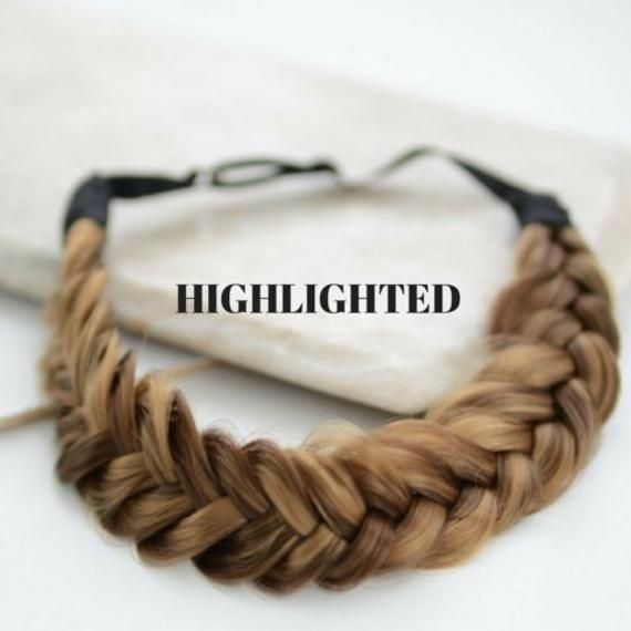 Chunky Hair Clip Bow Synthetic Extension Plaited Elastic Braided Band Pony Tail