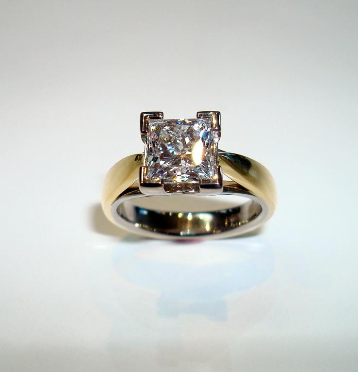 2.13 carat princess cut ring