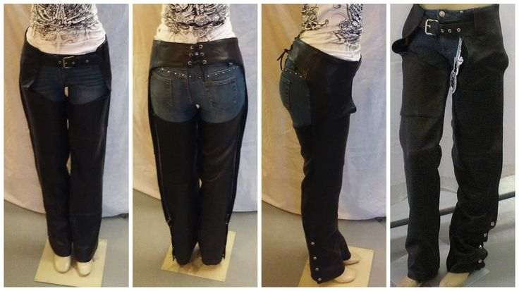 609 Unisex Black Leather Chaps - USA Made by AntelopeCreekLeather on Etsy
