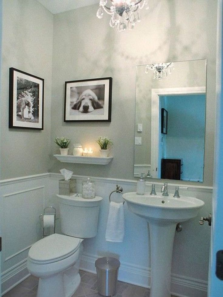 redoing bathroom%0A Best     Small powder rooms ideas on Pinterest   Mirrored subway tiles   Powder rooms and Half bath decor