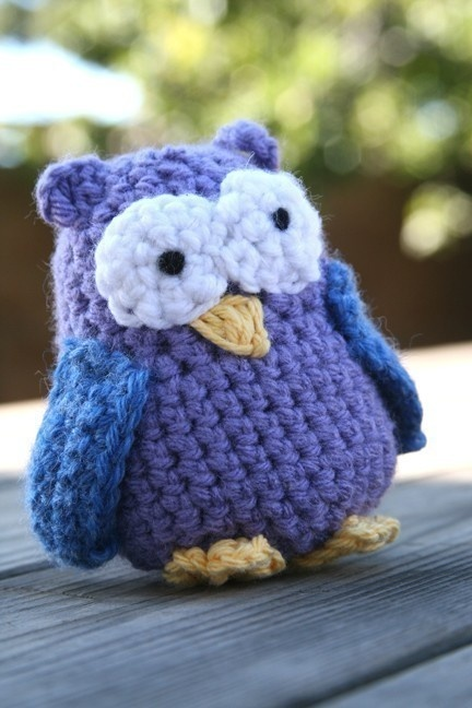 Crocheted owl. I am just in love with owls!