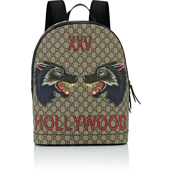 0cbc436d48e Gucci Men s Wolf-Print GG Supreme Backpack (51