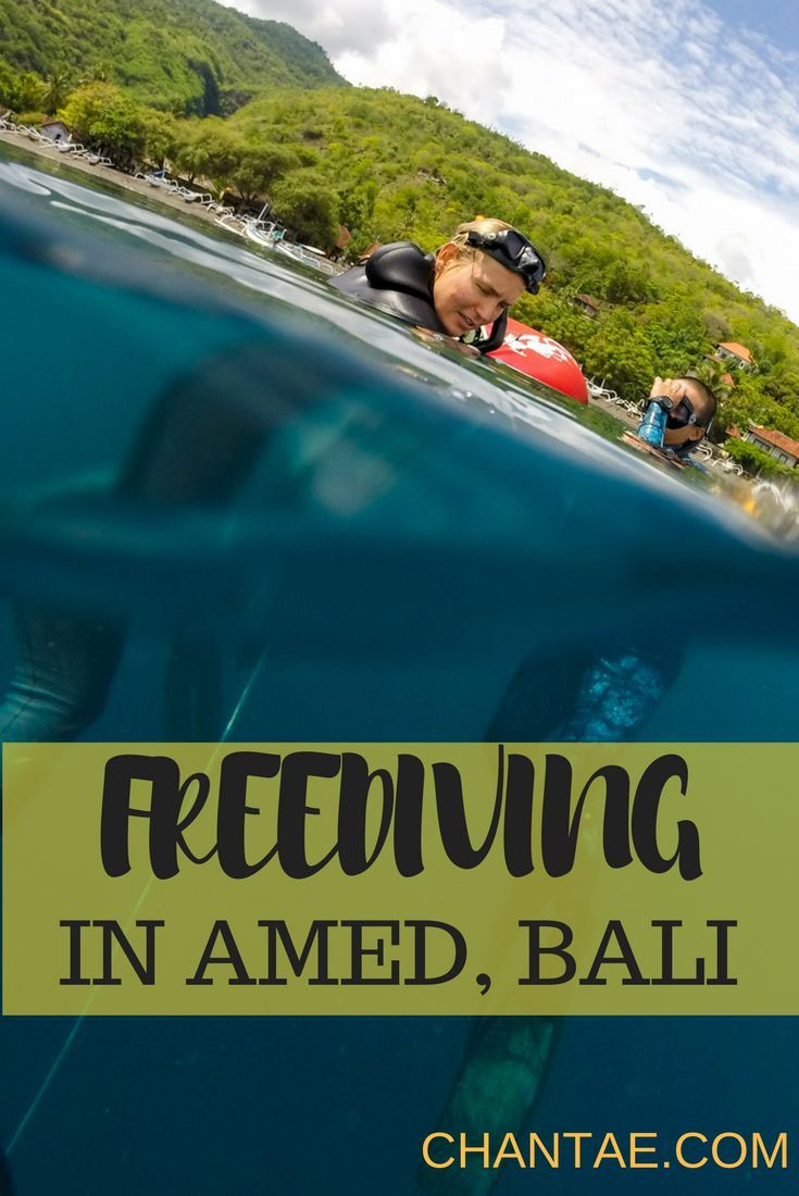What it's like to get your freedive certification and learn how to freedive in Amed, Bali.