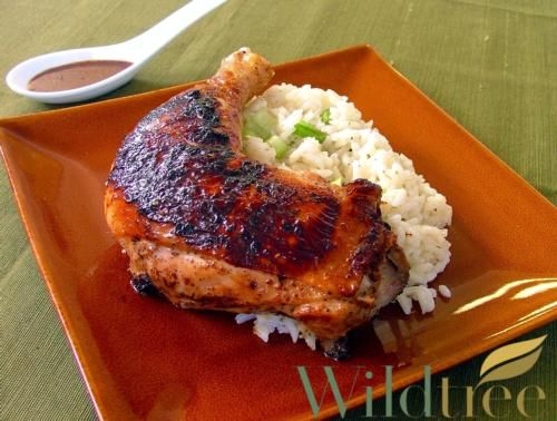 Wildtree's Adobo Grilled Chicken Recipe  -  You can purchase the Adobo Seasoning (product # 10723 for $9.50)  Natural Grapeseed Oil  (product # 10229 for $13),  needed for this recipe at:  www.mywildtree.com/sbagwell/