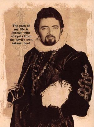 Edmund Blackadder (1983 - 1989) Four series about Blackadder starring Rowan Atkinson, as the anti-hero Edmund Blackadder, Tony Robinson as Baldrick, and  Lord Percy Percy, played by Tim McInnerny. Each series was set in a different historical period. ~ Kathy H