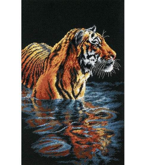 "Dimensions® 9""x14"" Counted Cross Stitch-Tiger Chilling Out"
