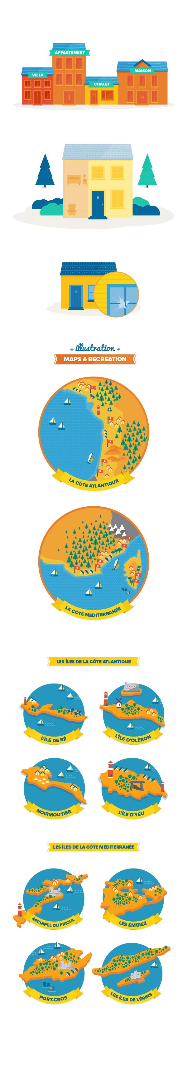 Poplidays Infographics by DHNN Creative Agency , via Behance