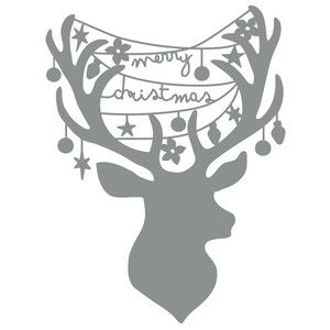Silhouette Design Store - View Design #230982: reindeer head christmas