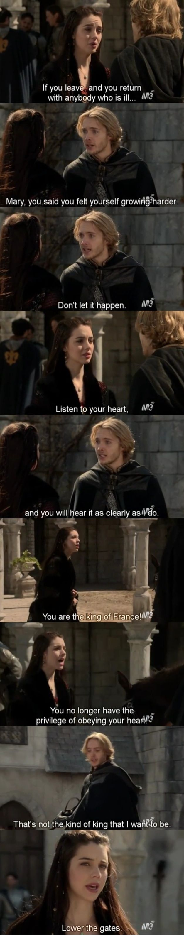 Frary 1x22 Reign 1. Season Final. Oh my gosh my heart. The finale killed me. Oh gosh I cried!!