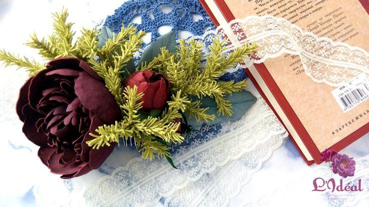 Гребень «Аромат пиона»🌸  Пышный гребень с цветами пиона, цинерарией и зеленью!   По поводу возникших вопросов ПИШИТЕ/ЗВОНИТЕ в:  ✏Viber/WhatsApp: 79634367807   P.S. Еще больше интересного в нашей группе  ВК: https://vk.com/lideal  Одноклассники: https://ok.ru/group/53259938693315  Инстарамм: l__ideal